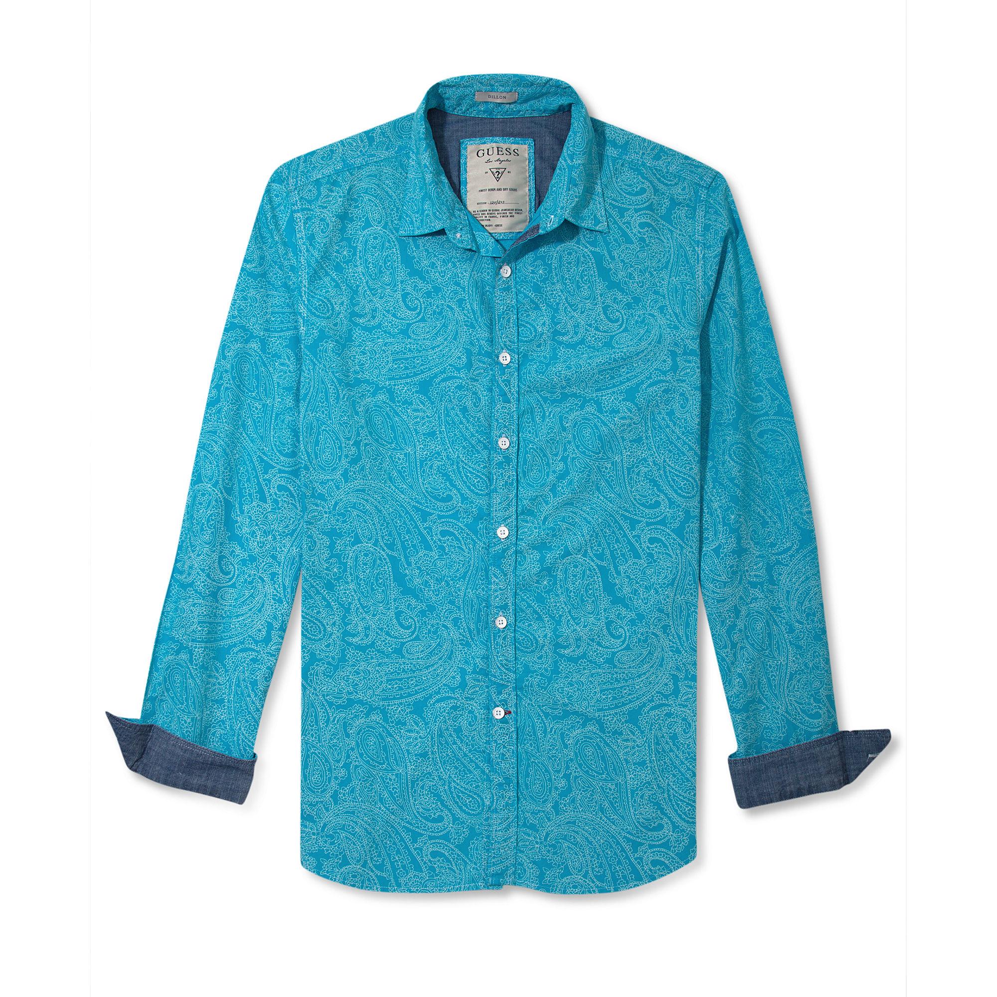 Lyst Guess Jeans Shirt Long Sleeve Dillon Goa Printed