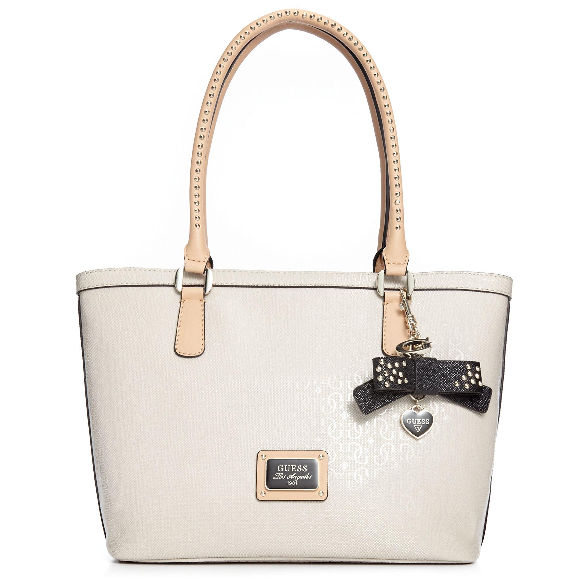 Guess White Guess Handbag Specks Small Classic