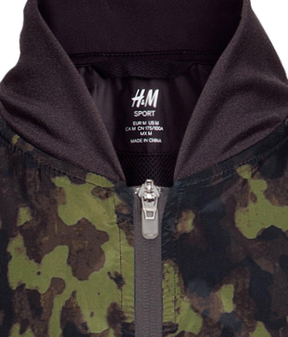 H&M Running Jacket in Green for Men