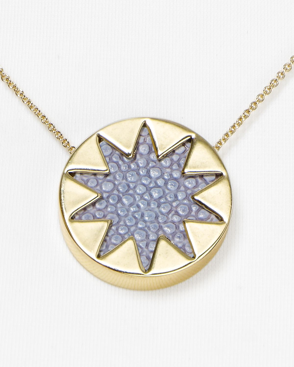 Lyst house of harlow 1960 mini sunburst pendant necklace 16 in gallery mozeypictures Choice Image
