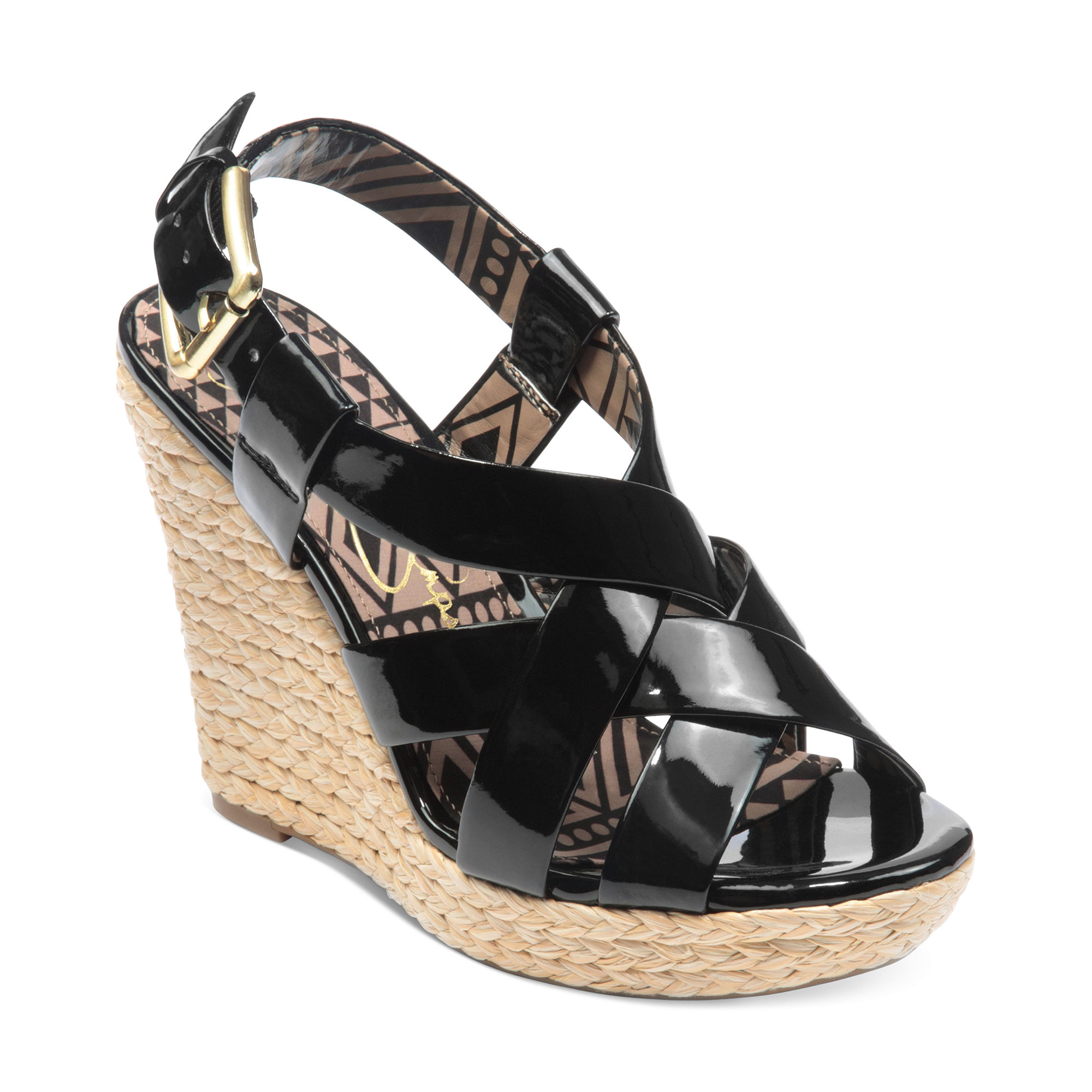 Jessica Simpson Catalina Platform Wedge Sandals In Black
