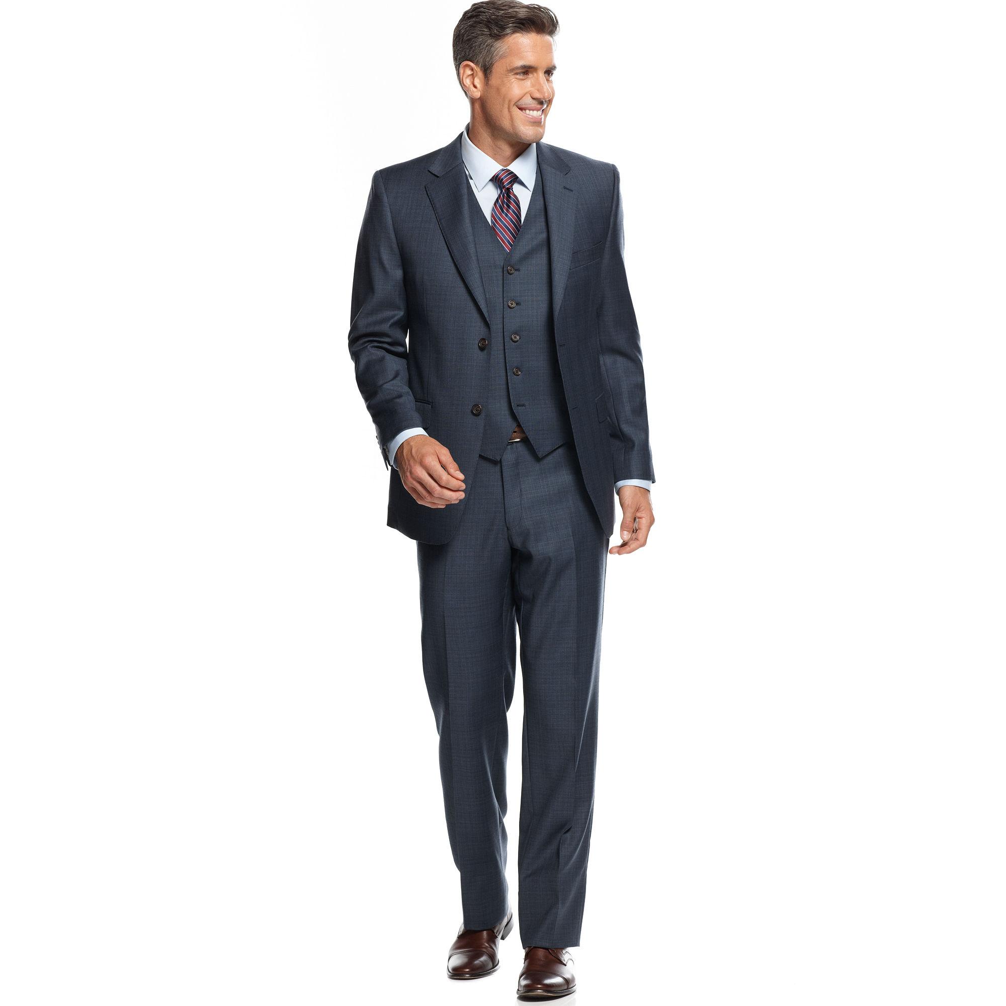 Lauren By Ralph Lauren Navy Solid Slim Fit Suit In Blue