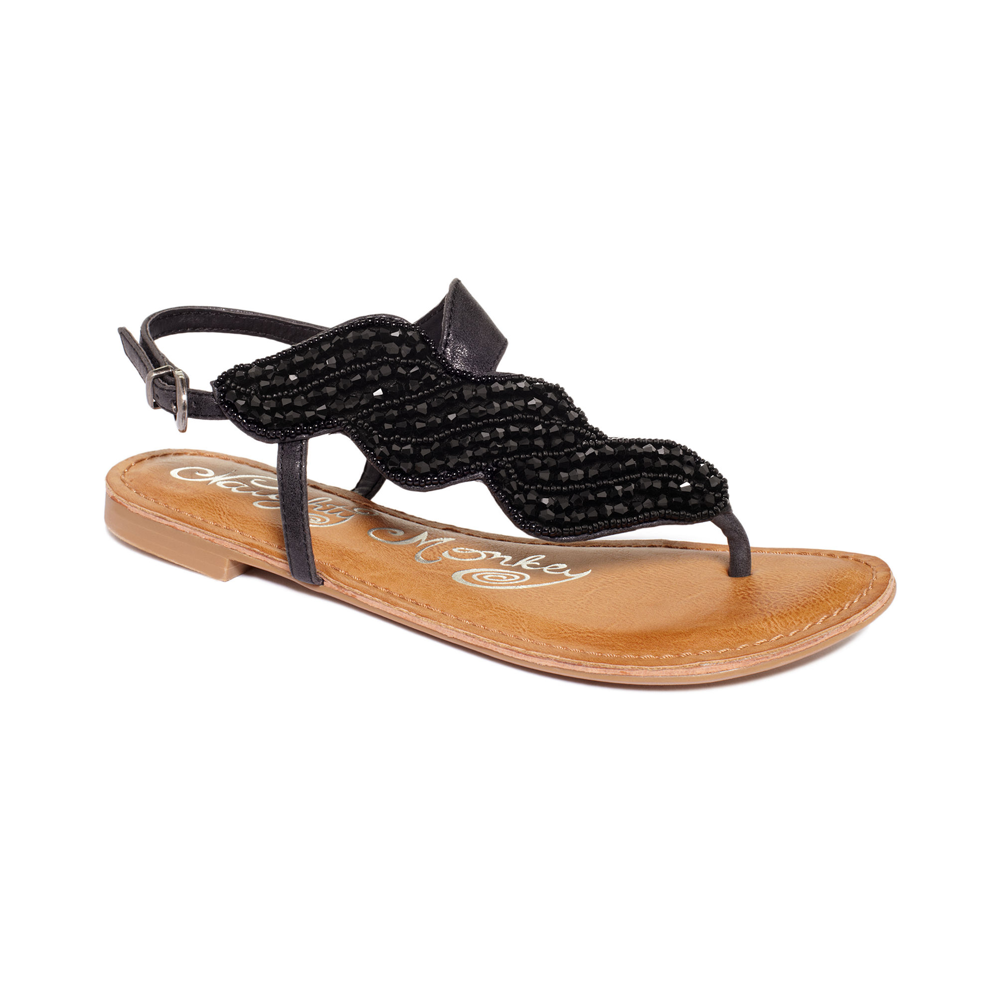 Naughty monkey Illusion A Symetrical Flat Sandals in Black ...