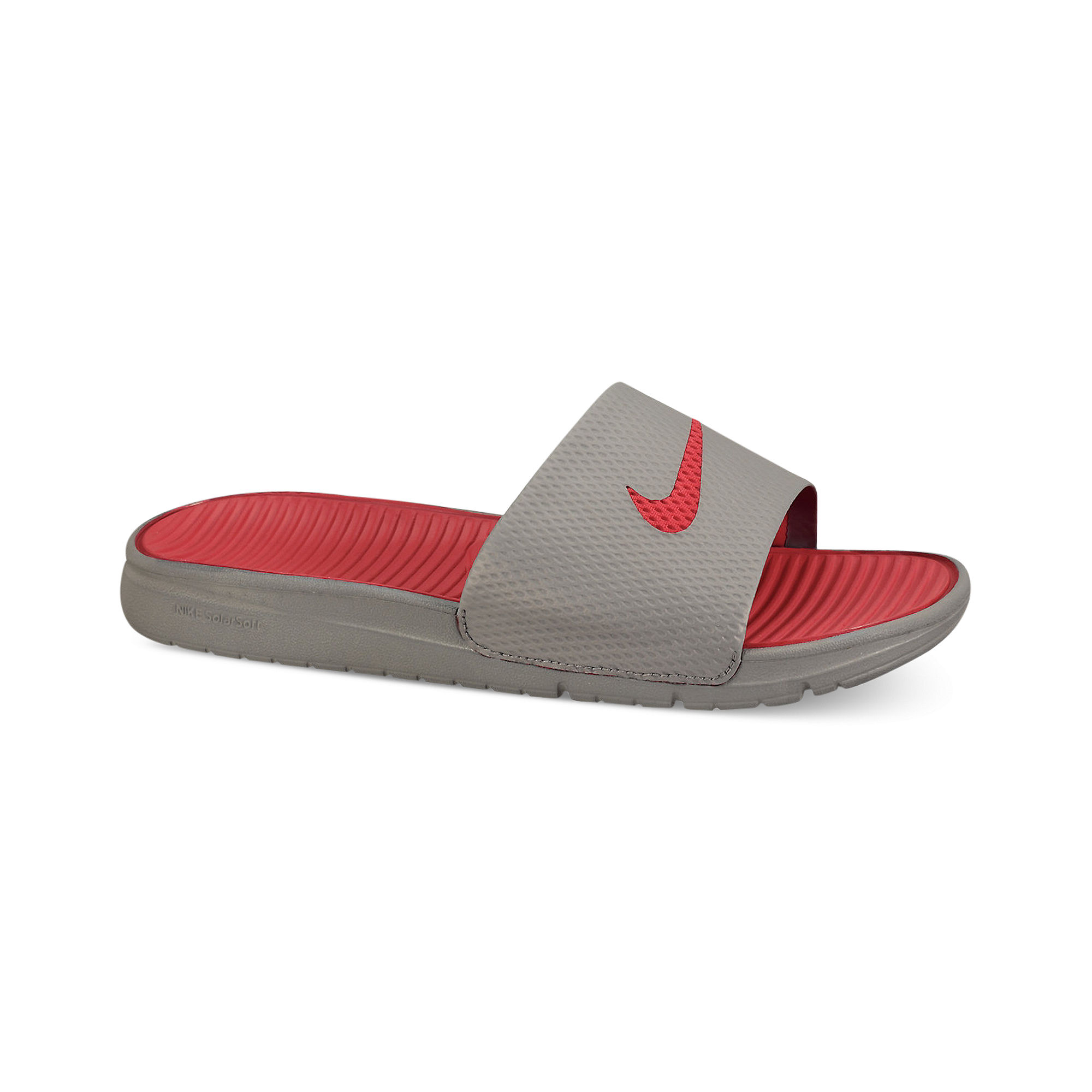 170d536a2 Lyst - Nike Benassi Solarsoft Slides in Gray for Men
