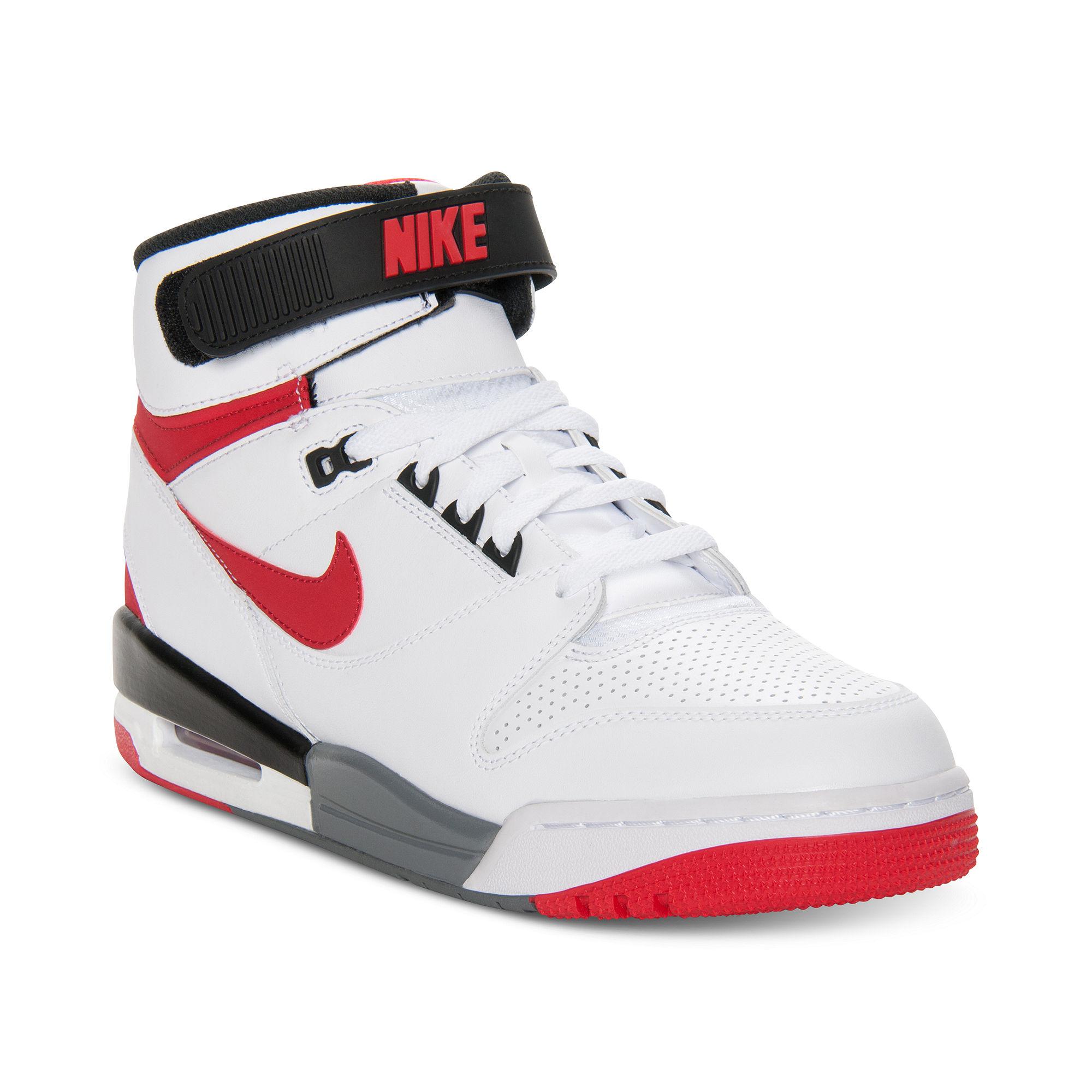 Nike Air Revolution Basketball Sneakers in White for Men ...