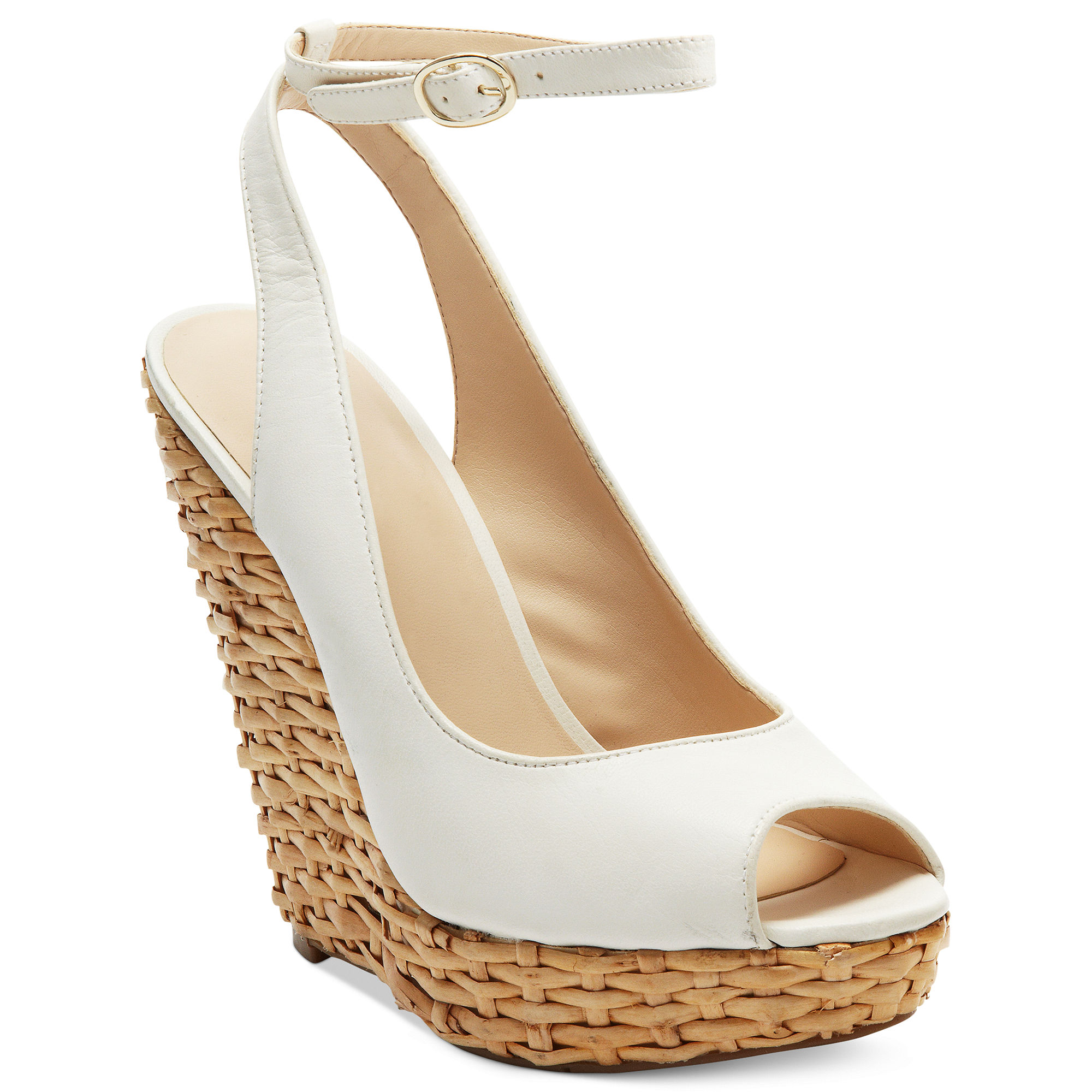 Nine West White Wedge Shoes