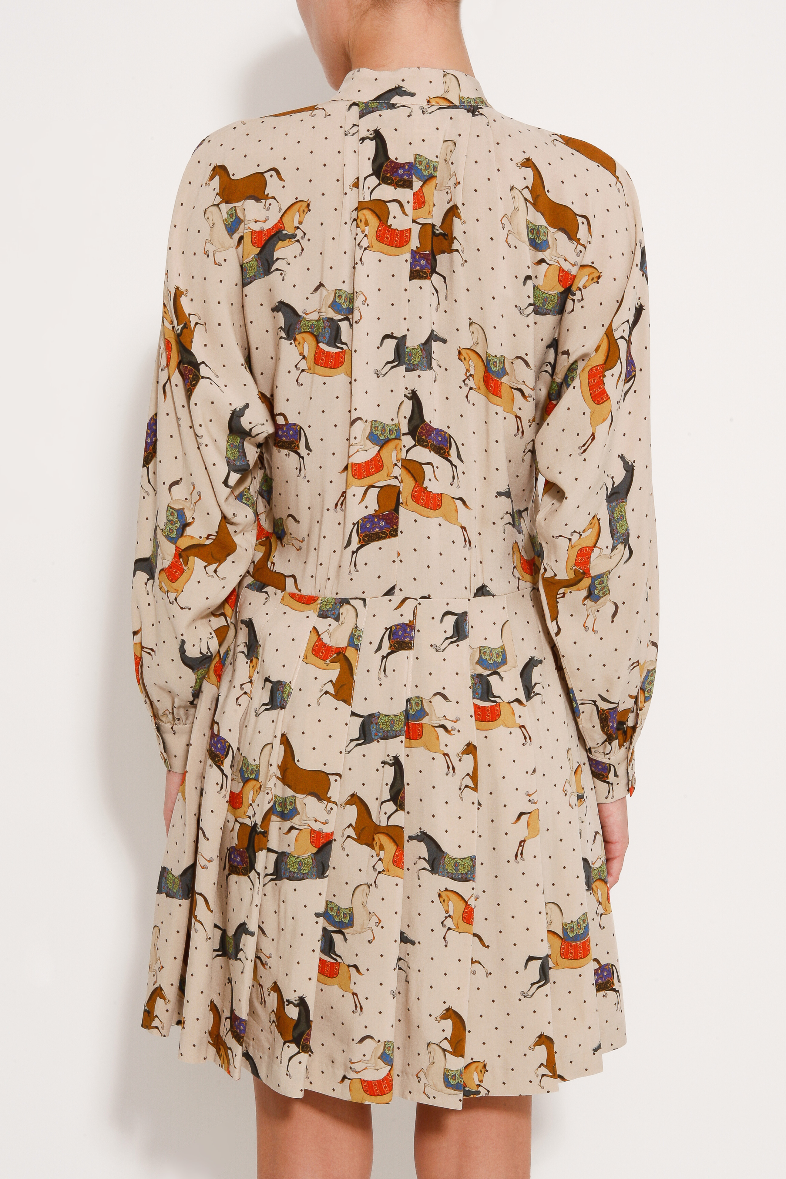 Paul Amp Joe Horse Print Dress In Beige Natural Lyst