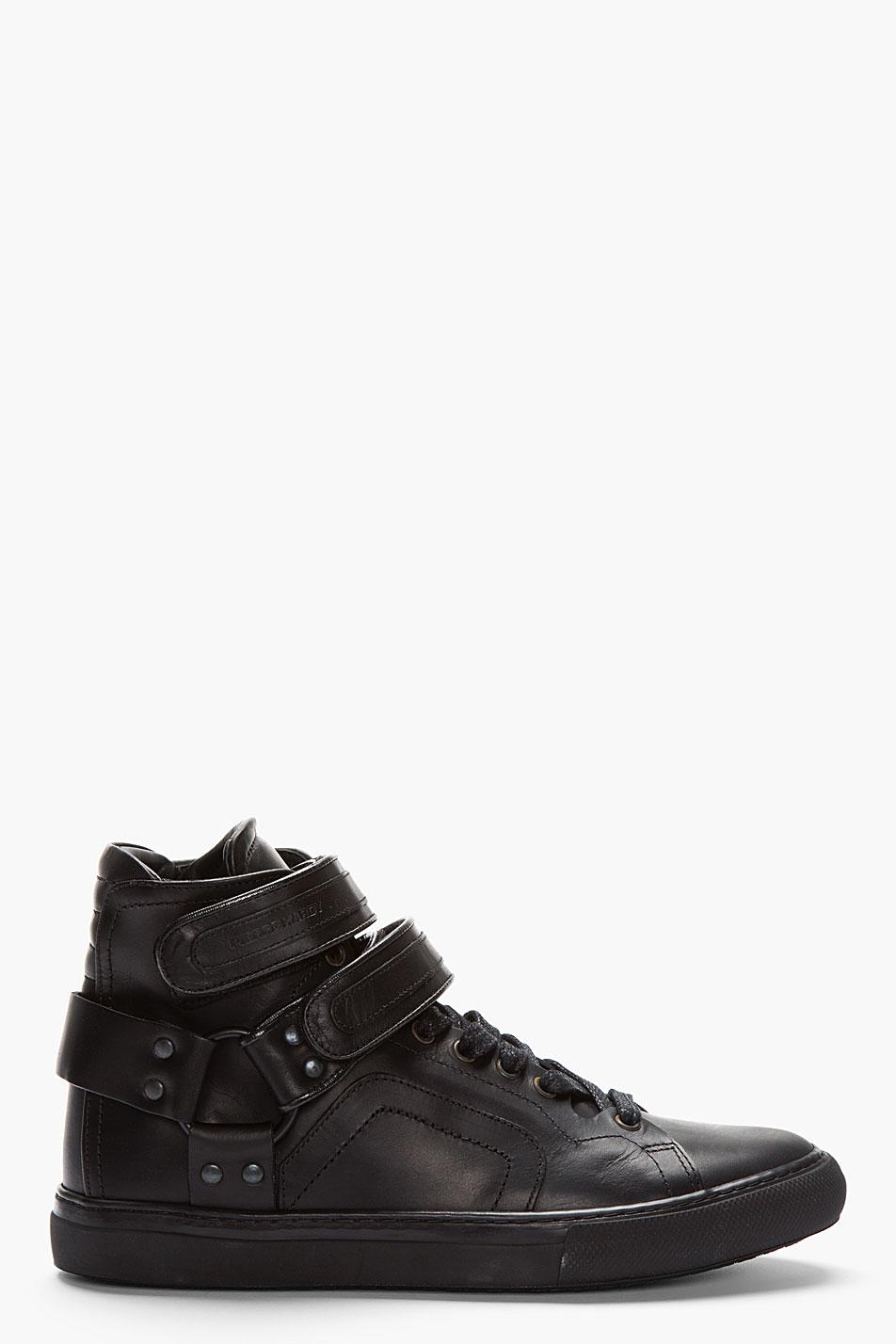 Lyst Pierre Hardy Black Leather Multi Strap Velcro High
