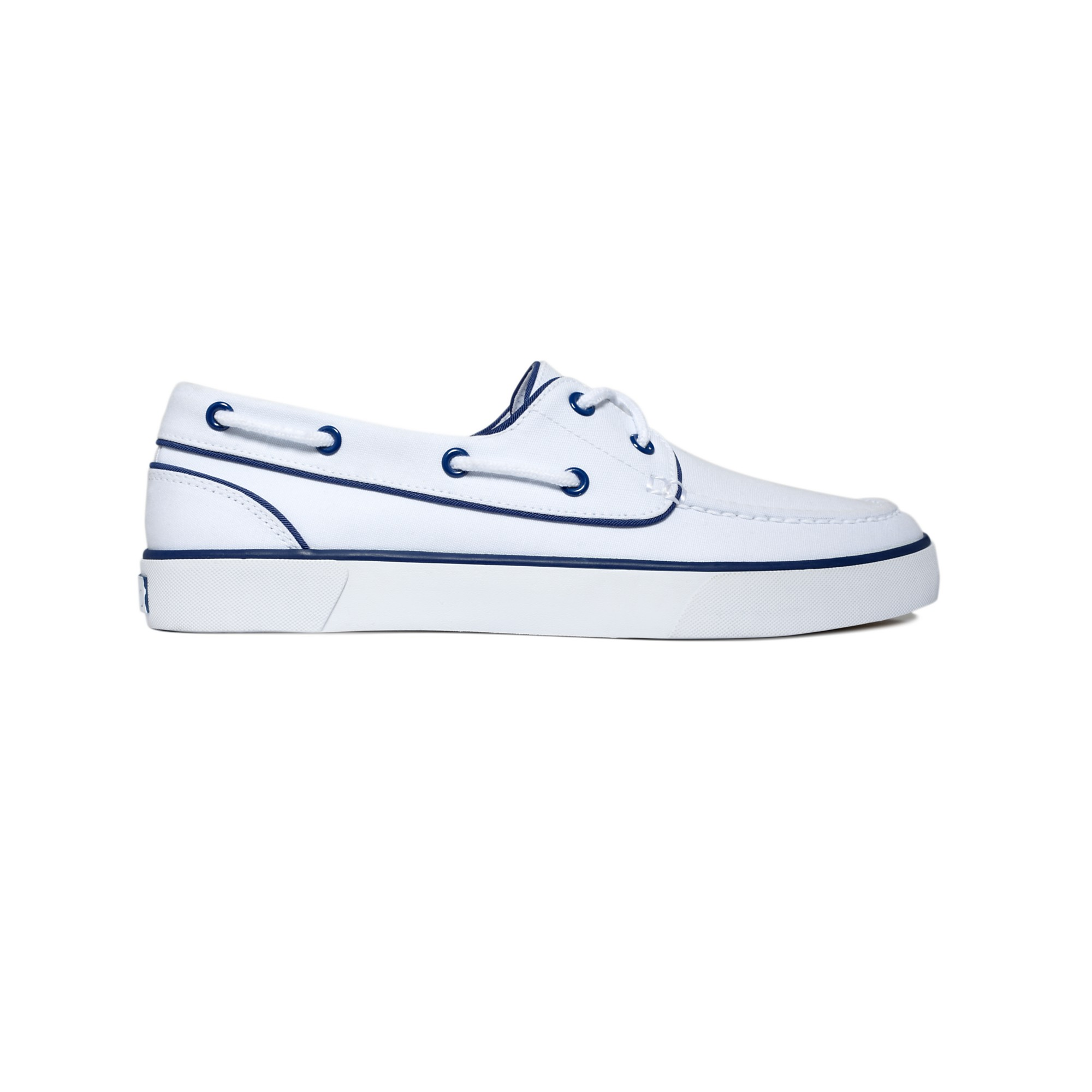 polo ralph lander p boat shoes in white for