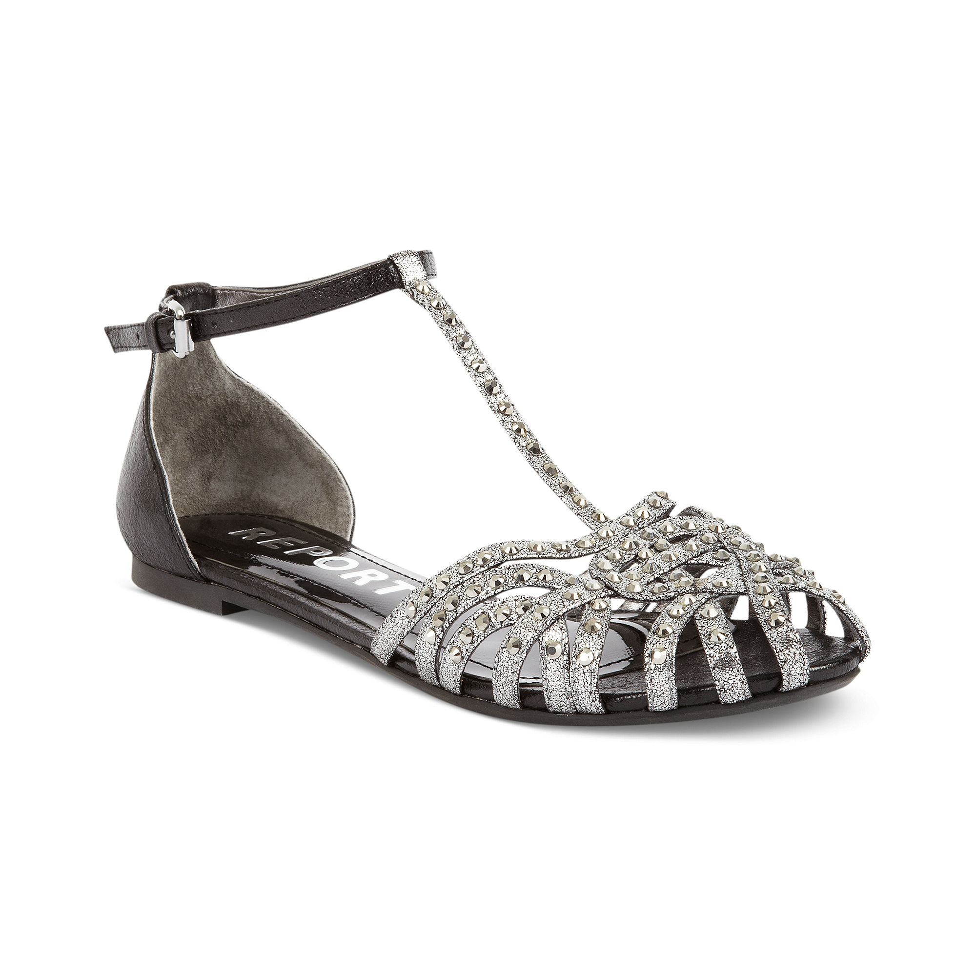 Pewter Colored Flat Shoes