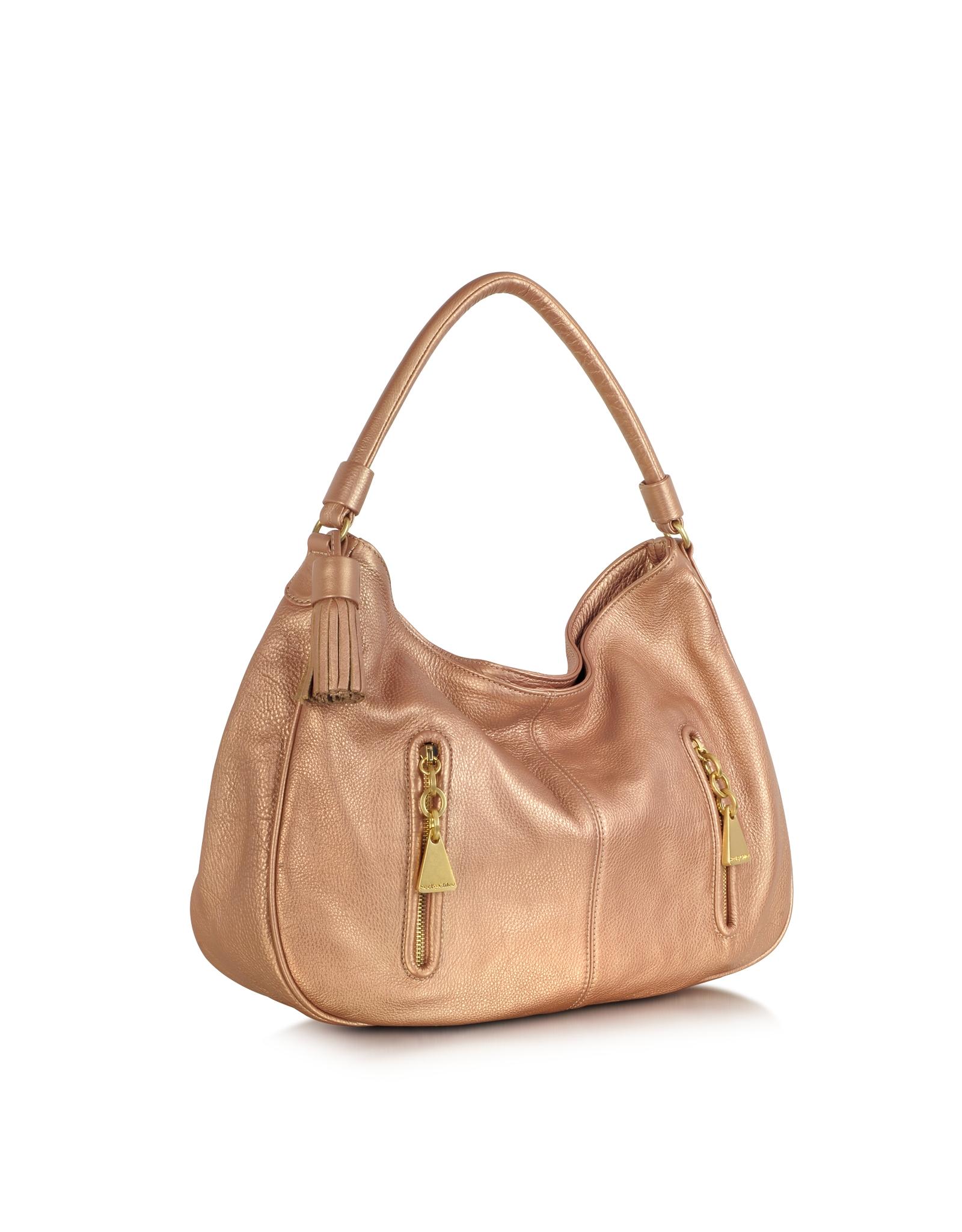 Chlo 233 Pink Champagne Metallic Leather Hobo Bag Lyst