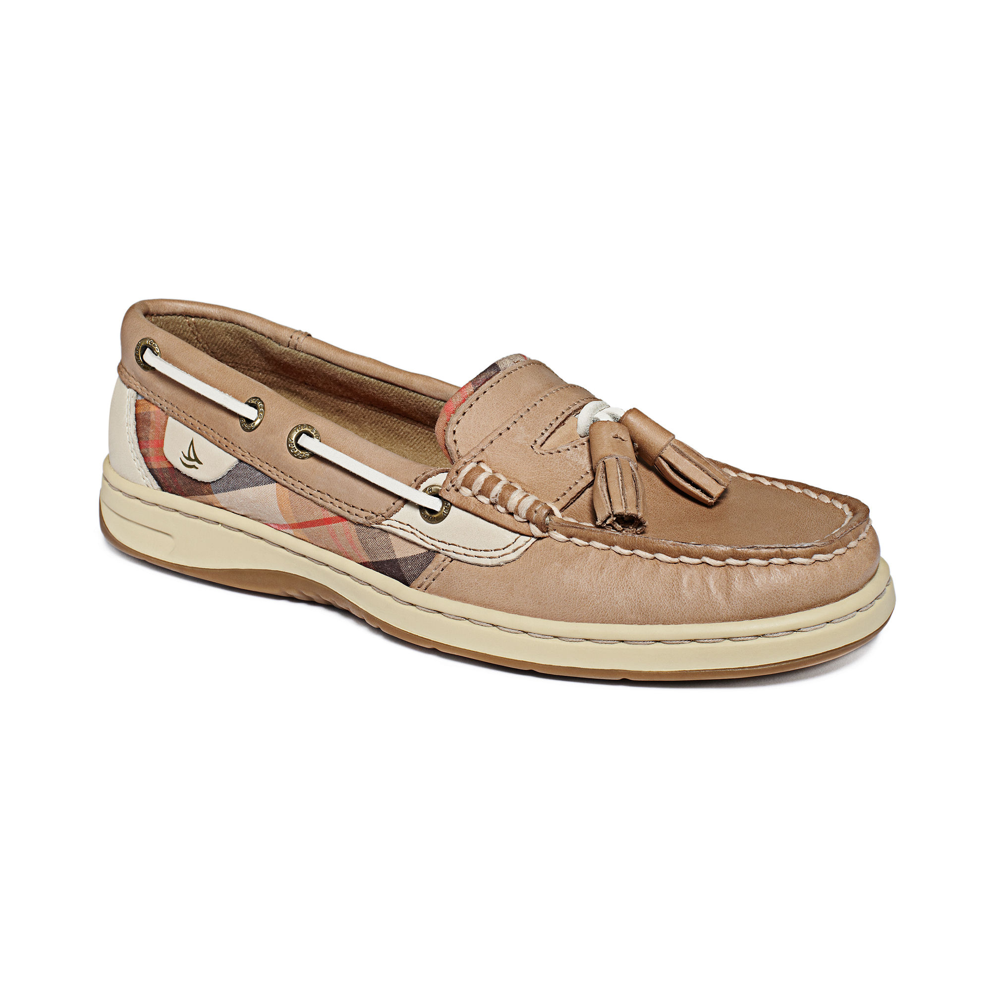 Sperry top sider tasselfish boat shoes in brown lyst for Best boat shoes for fishing