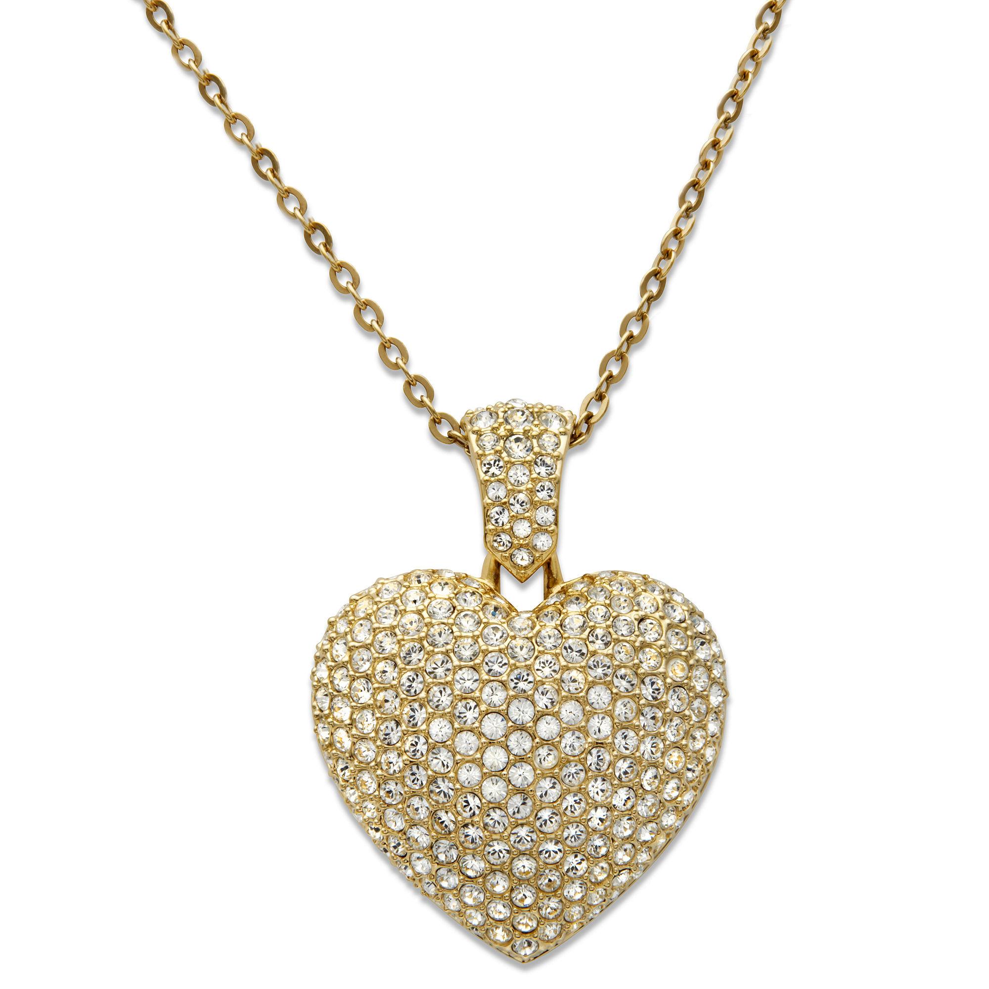 278adef007aaf Swarovski Metallic Puffed Heart Pendant