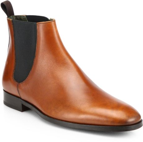 to boot brent leather chelsea boots in brown for men cognac lyst. Black Bedroom Furniture Sets. Home Design Ideas