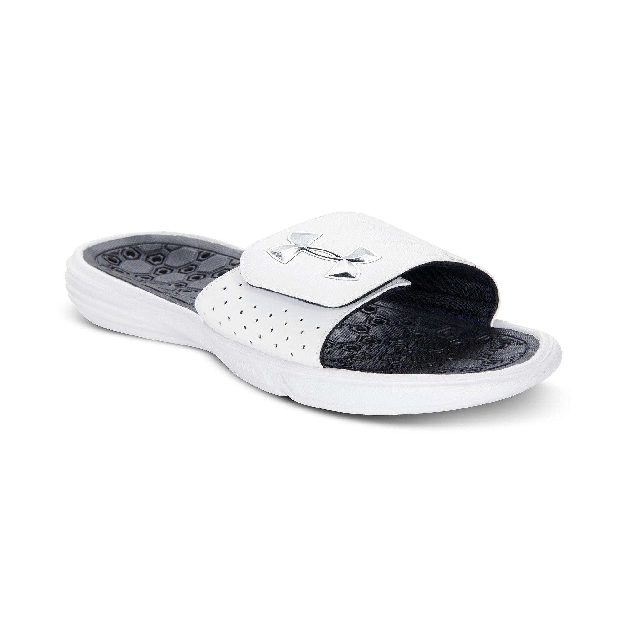 Under Armour Playmaker Slide Sandals in White for Men ...