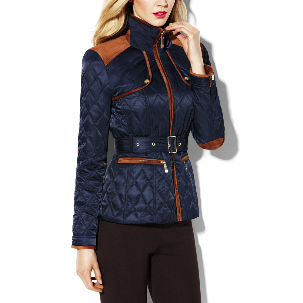 Vince Camuto Transitional Quilted Jacket In Dark Navy