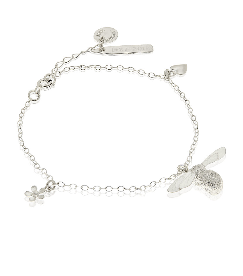 Alex Monroe Bumblebee Necklace Silver: Alex Monroe 25th Anniversary Baby Bee Charm Bracelet In