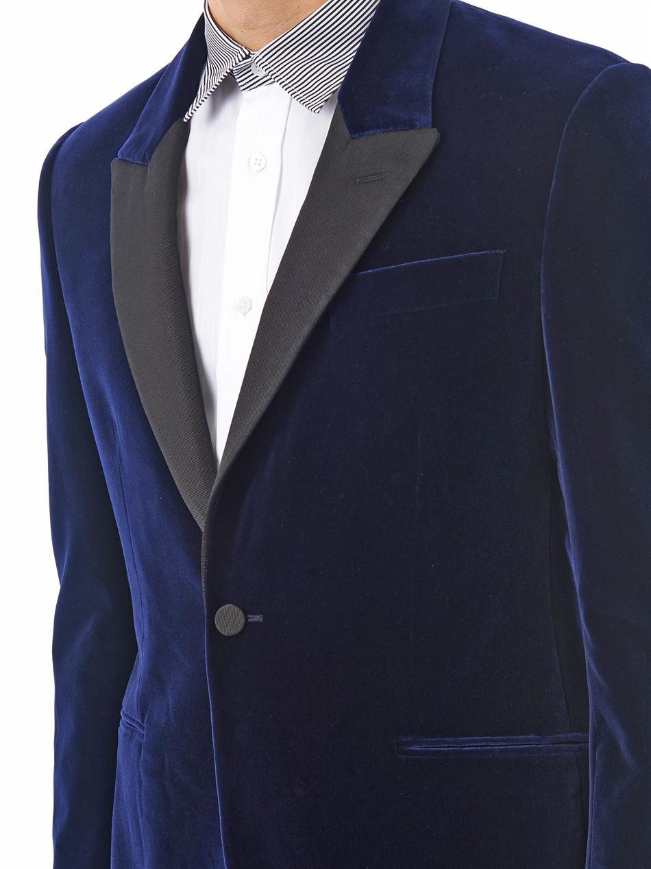 Alfani NEW Teal Blue Mens Size Medium M Two Button Velvet Blazer $ # See more like this YVES SAINT LAURENT VELVET SMOKING DINNER JACKET Mens 34R/34 R Navy Blue Blazer BLOOMINGDALES--DUAL VENT $ Retail.
