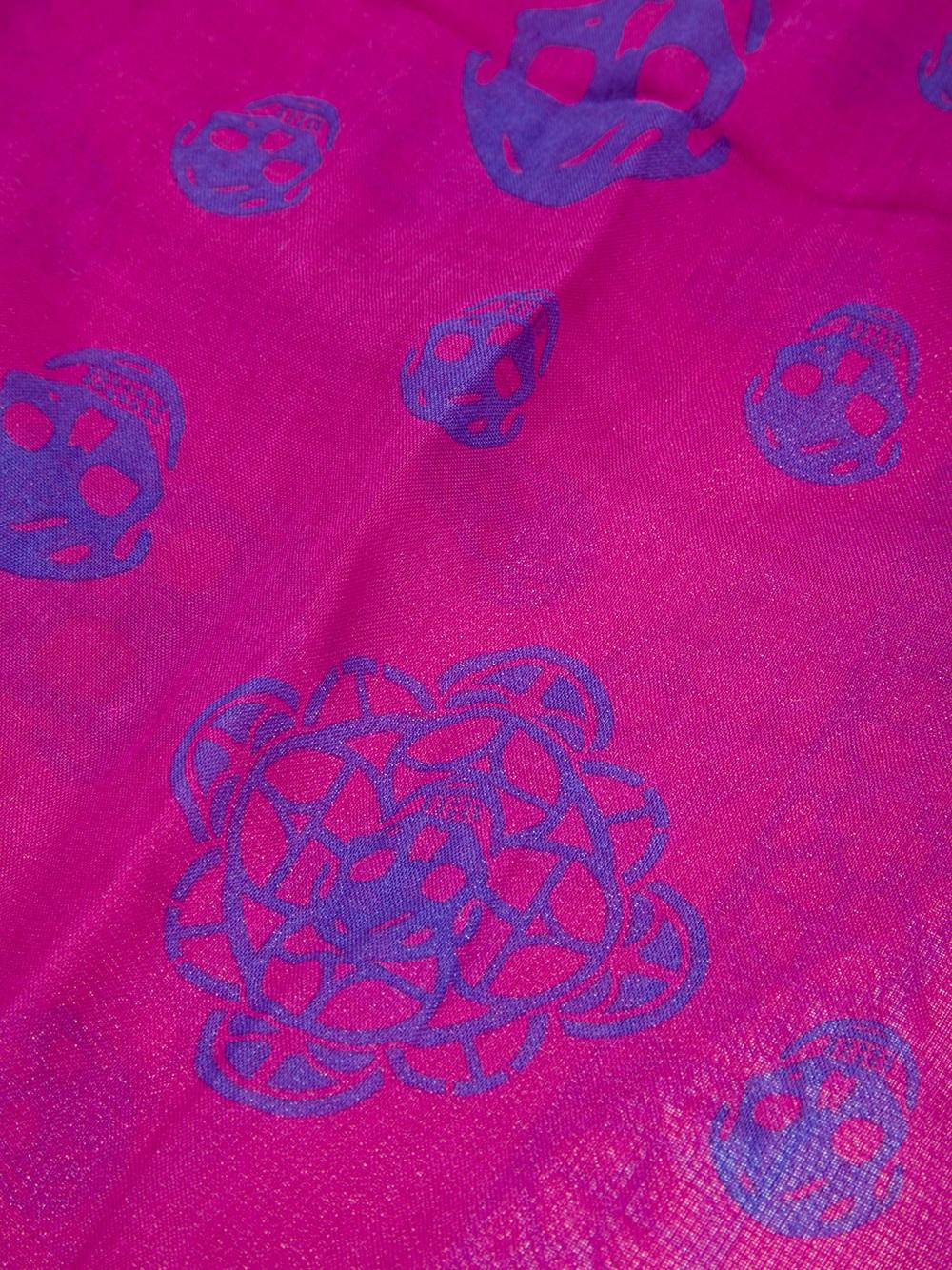 Alexander mcqueen Skull Print Scarf in Pink