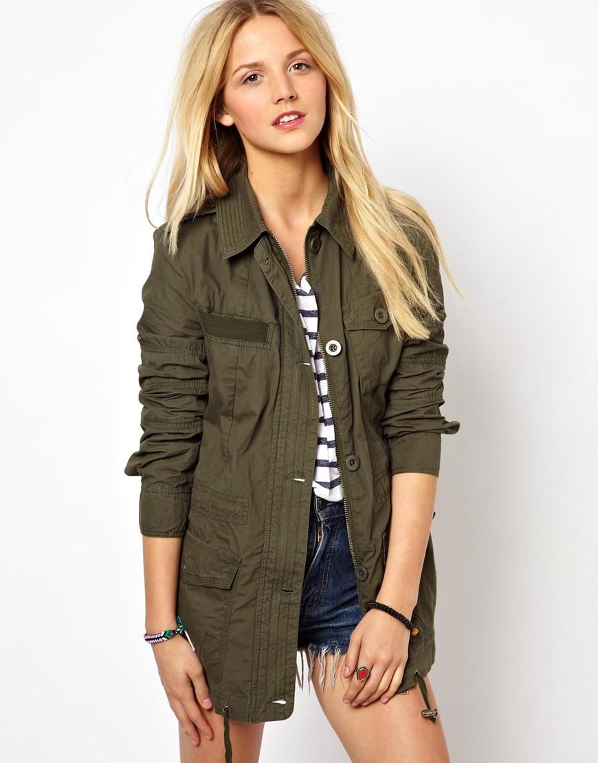 Utility Jacket Jackets And Nike: Asos Four Pocket Utility Jacket In Natural (Khaki)