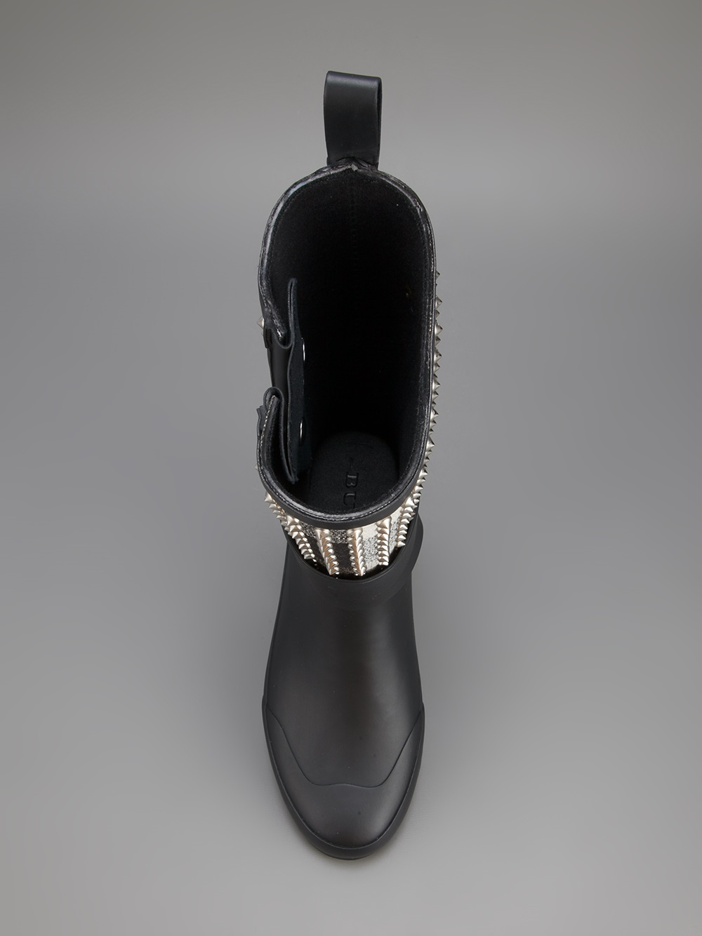 Burberry Buckled Rain Boot in Black