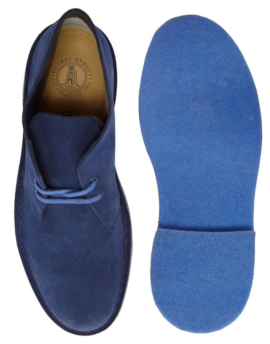 Love Clarks Originals Suede Desert Boots In Blue For Men