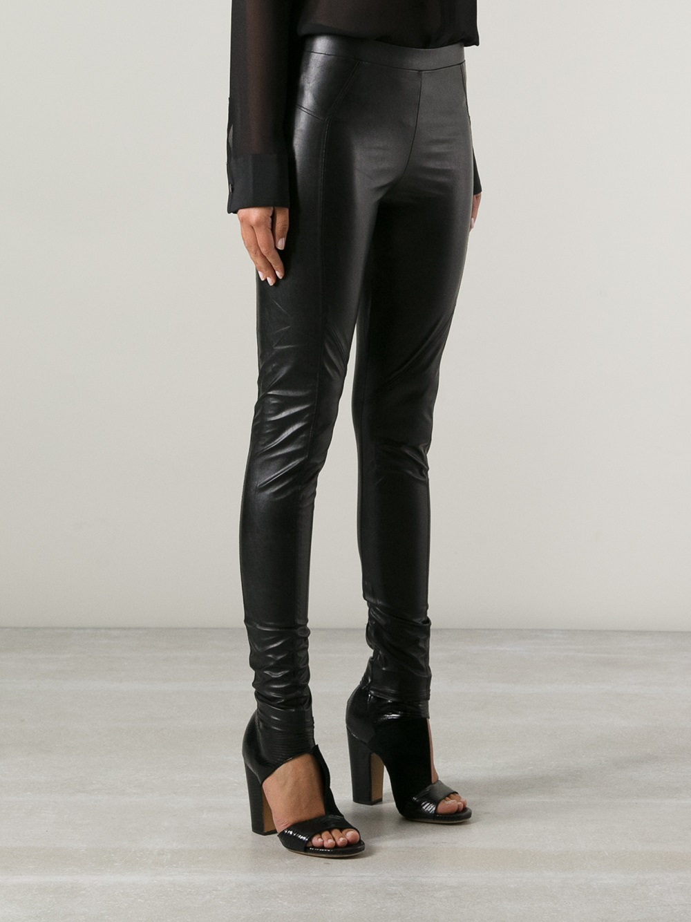 0307272e634df Gallery. Previously sold at: Farfetch · Women's Faux Leather Pants Women's Leather  Leggings