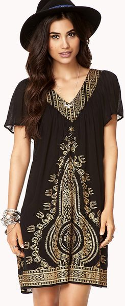 Black And Gold Dress Forever 21 Traffic Club