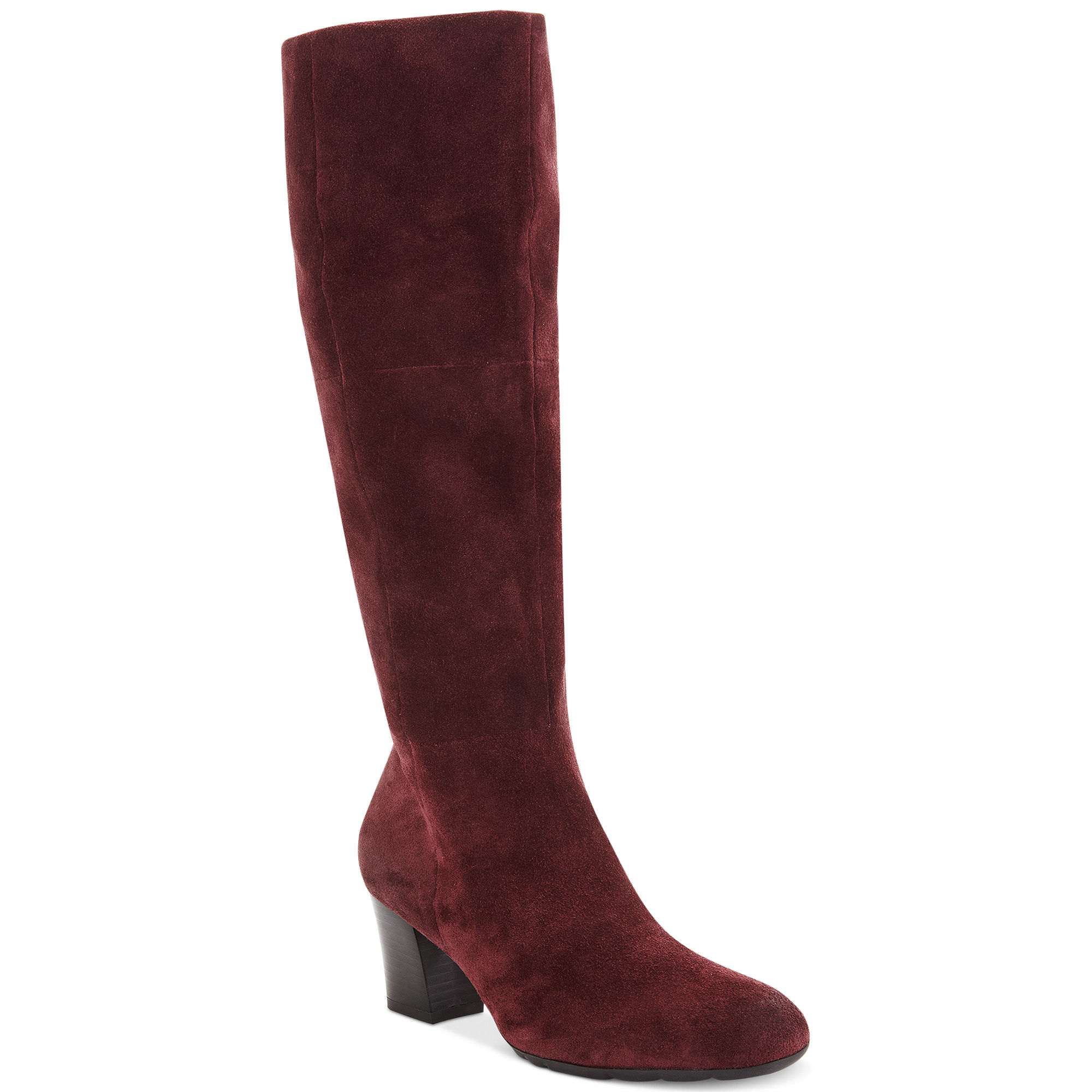 franco sarto dress boots in brown mulberry lyst