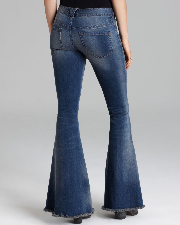 Free people Jeans Stretch Denim Super Flare in Oslo in ...