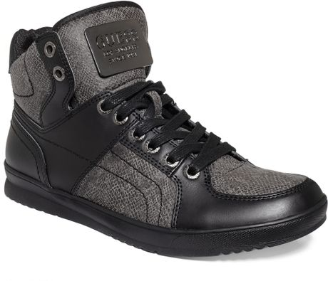 Guess Mens Shoes Trippy Sneakers In Black For Men Black