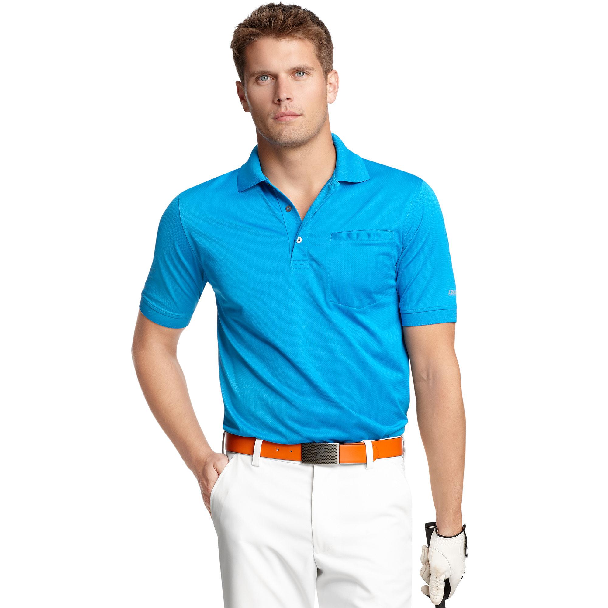 Lyst Izod Slim Fit Pocket Polo Shirt In Blue For Men