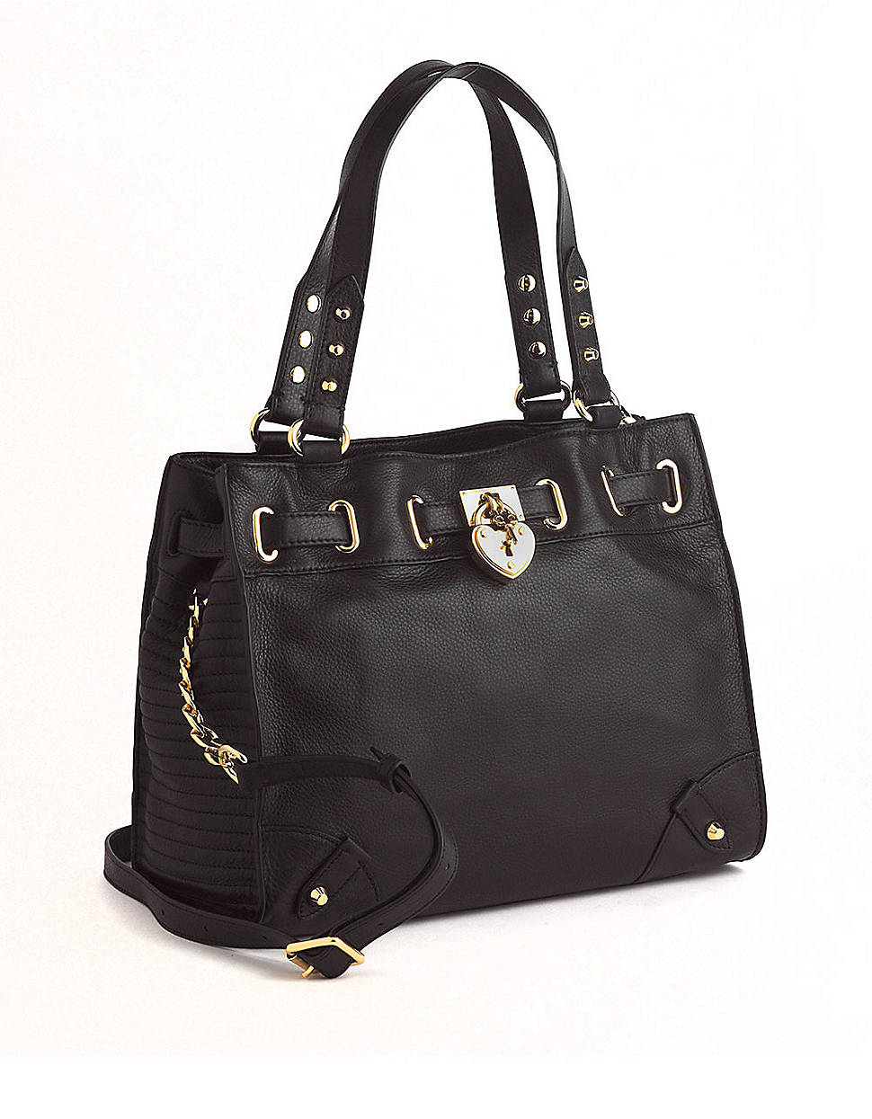 juicy couture daydreamer leather crossbody tote bag in black lyst. Black Bedroom Furniture Sets. Home Design Ideas