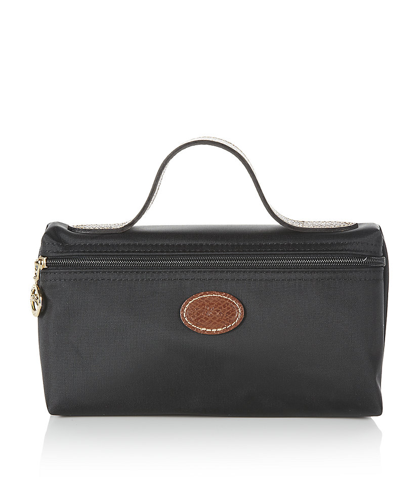 longch le pliage large cosmetic bag in black gold lyst