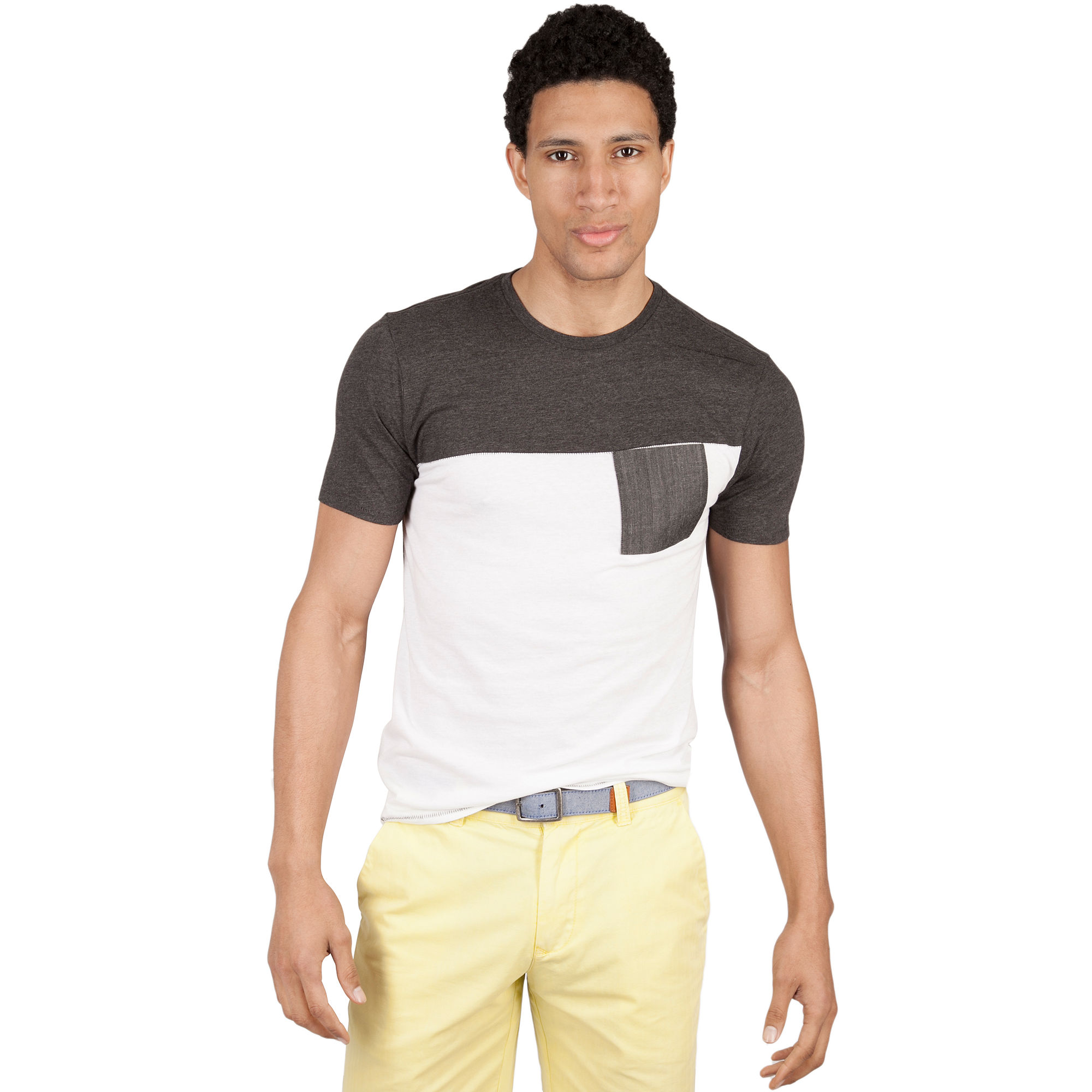 Marc ecko short sleeve coma crew neck shirt in white for for Marc ecko dress shirts