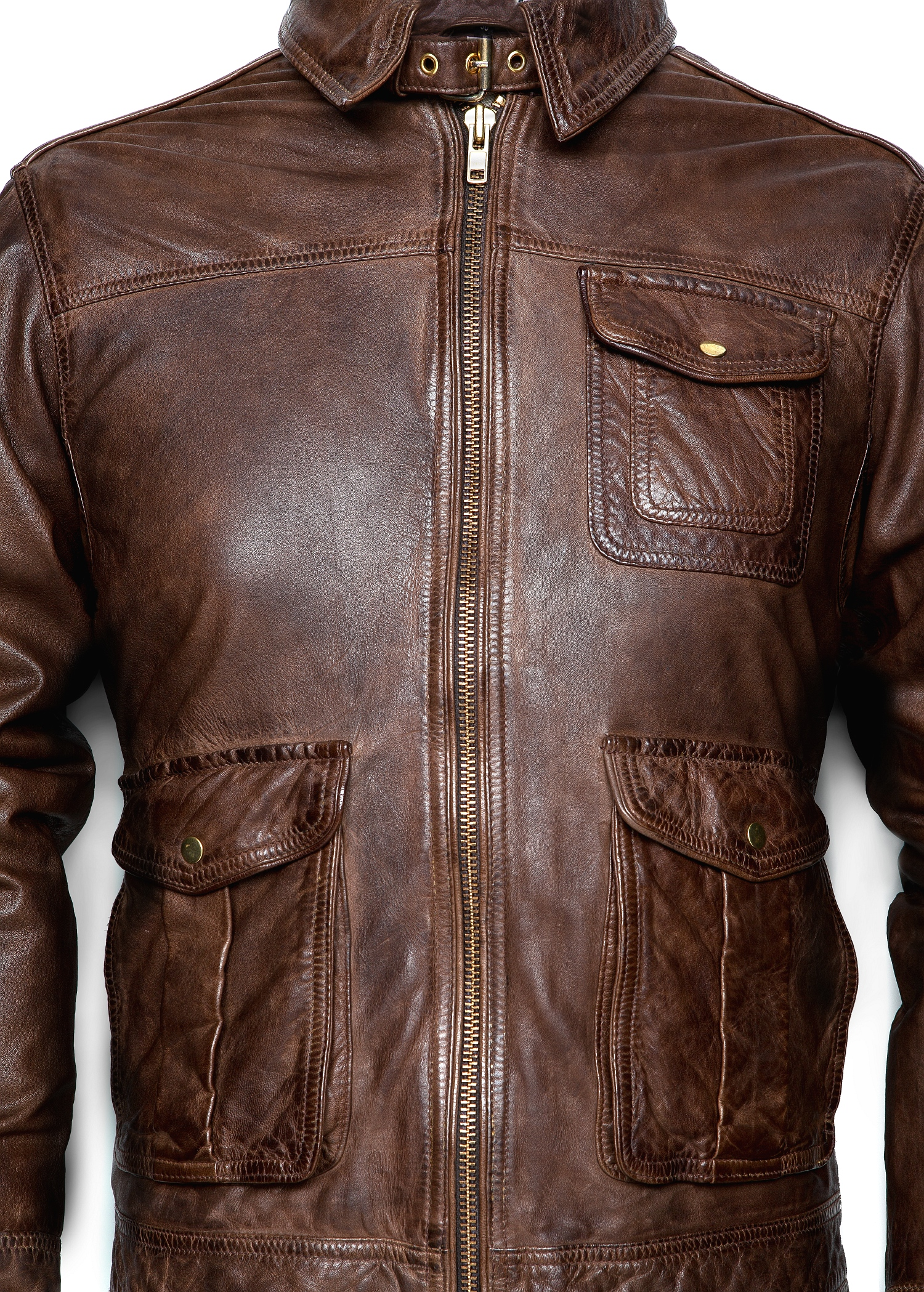 Lyst Mango Vintage Leather Jacket In Brown For Men