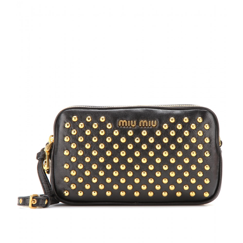 Pre Order Cheap Price studded clutch bag - Black Miu Miu Sale Recommend Outlet Limited Edition Best Selling From China Sale Online XBnWm26