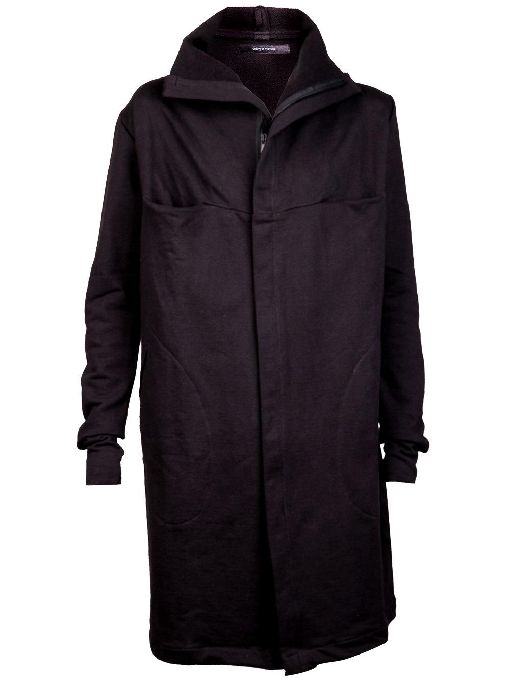 Odyn Vovk High Collar Invisible Coat In Black For Men Lyst