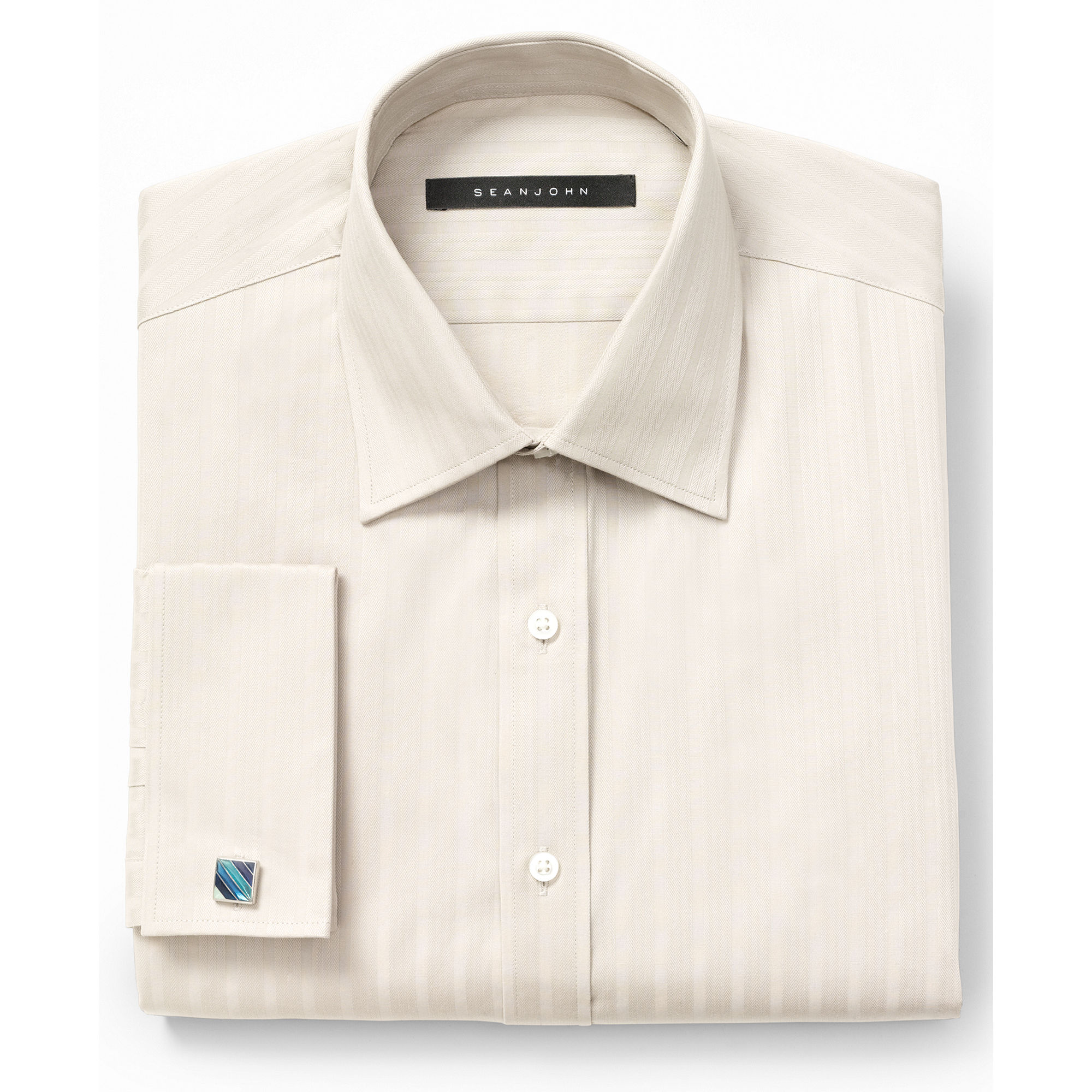 Lyst sean john big and tall thistle bank stripe for Big and tall french cuff dress shirts