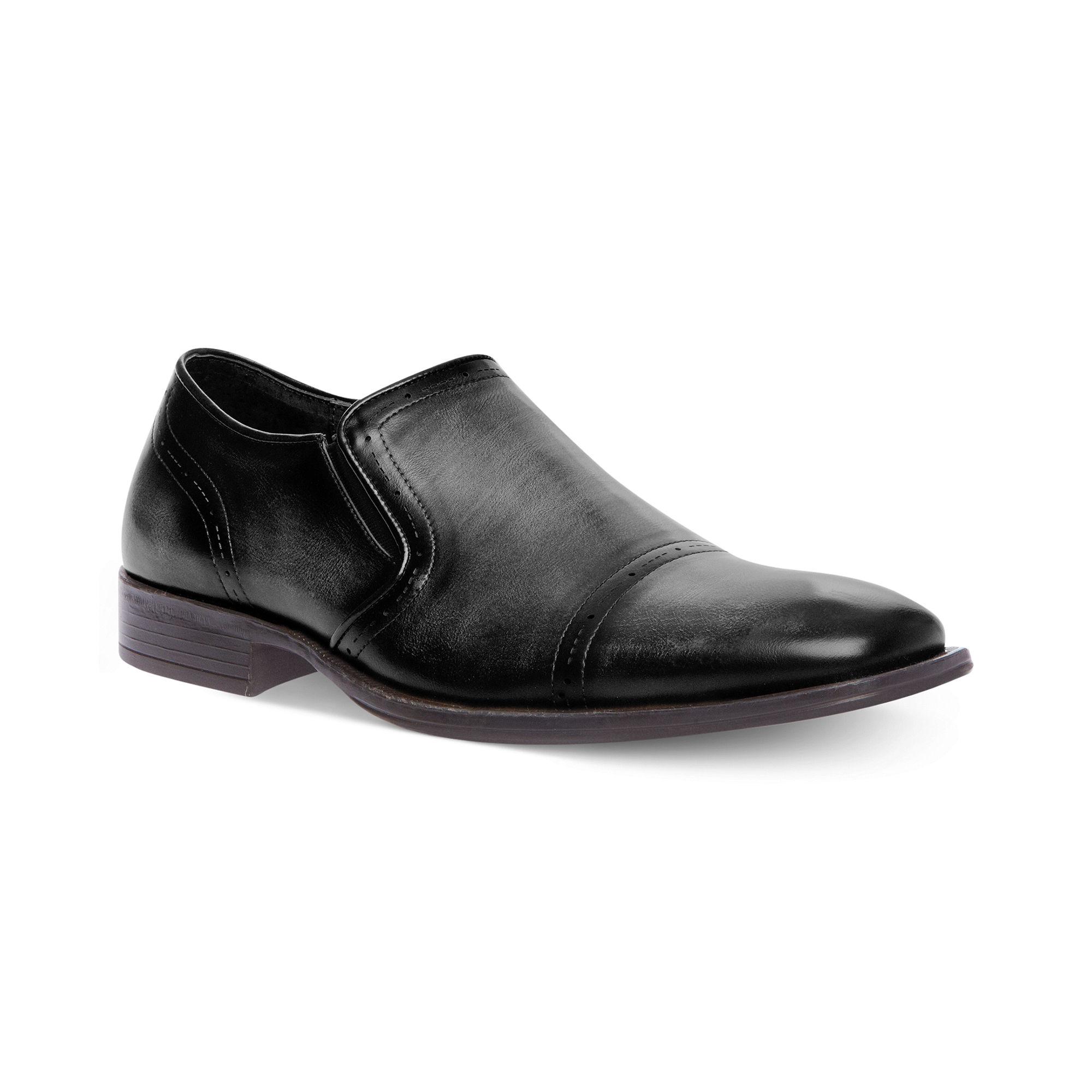 Steve Madden Madden Mens Shoes Evoke Slipon Dress Shoes in Black for
