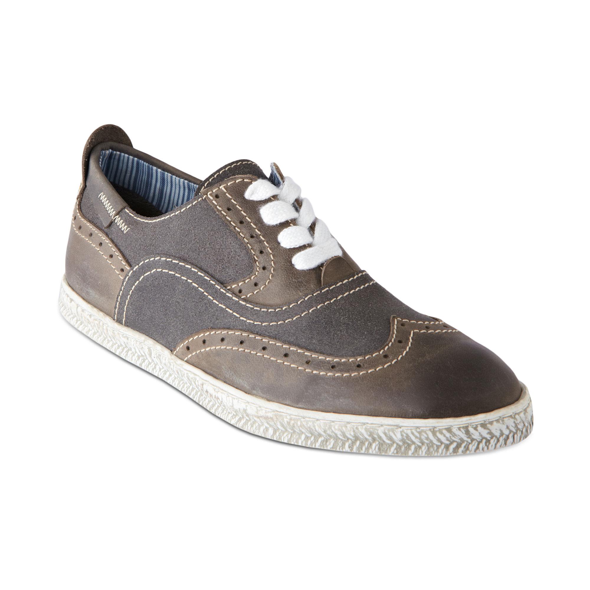 Lyst Steve Madden Henry Wingtip Sneakers In Gray For Men