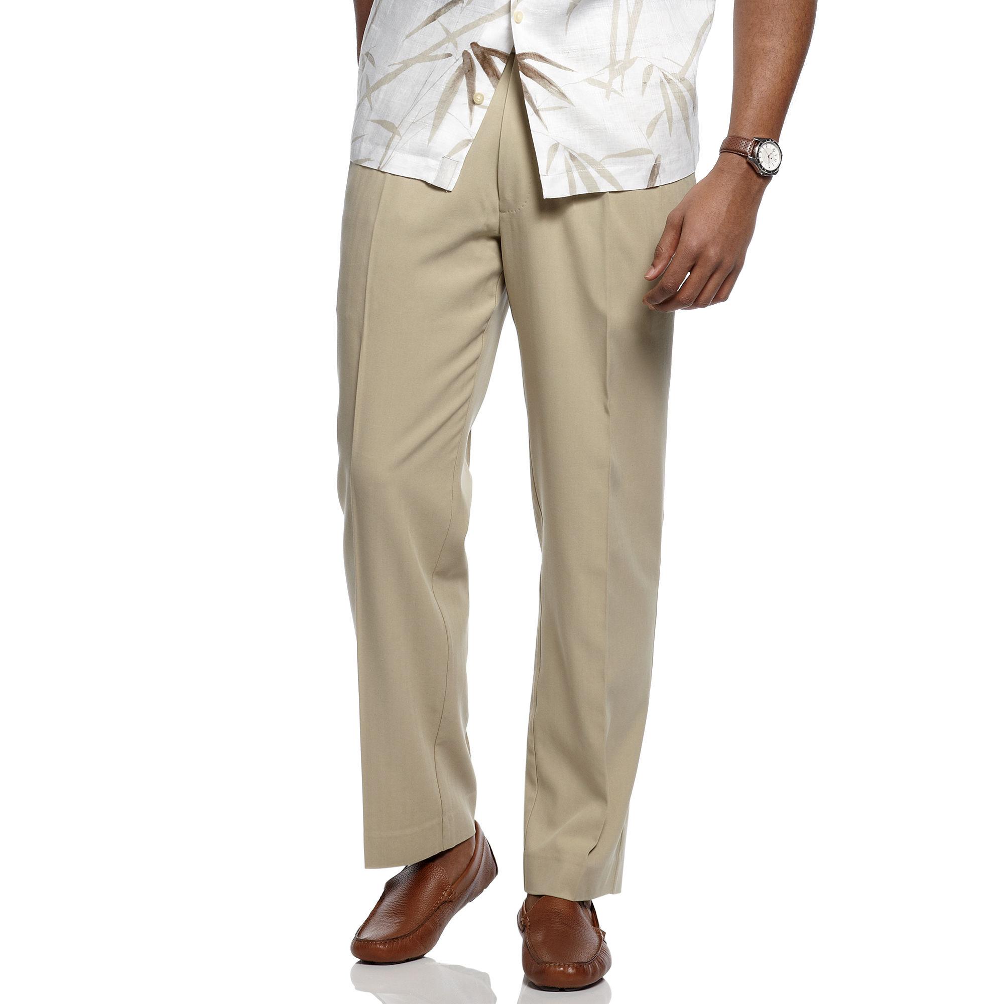 f26f33eebce Tommy Bahama Natural Flying Fishbone Silk Flat Front Dress Pants for men