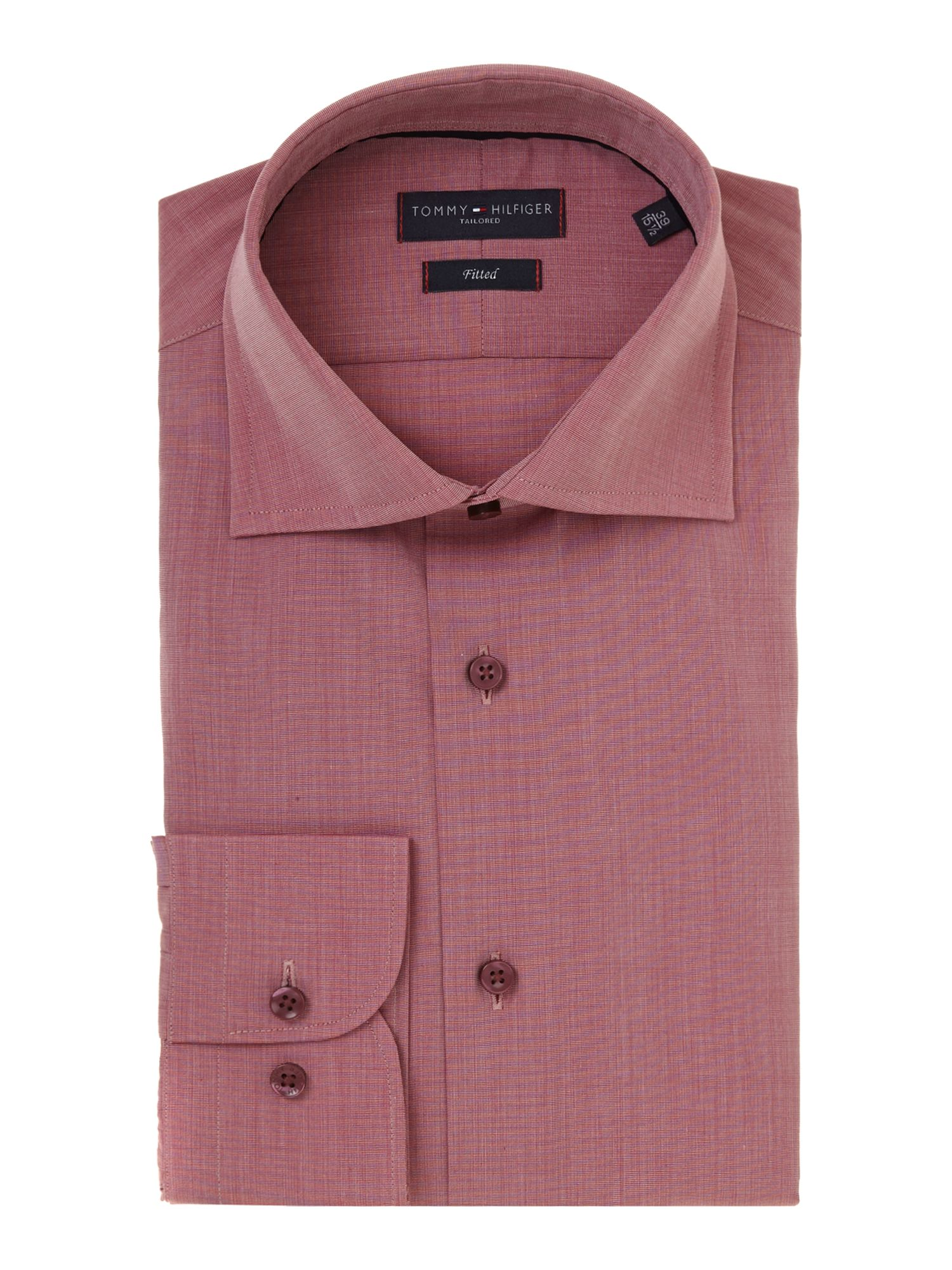 Tommy Hilfiger Jake Higher Collar Stand Gingham Shirt In