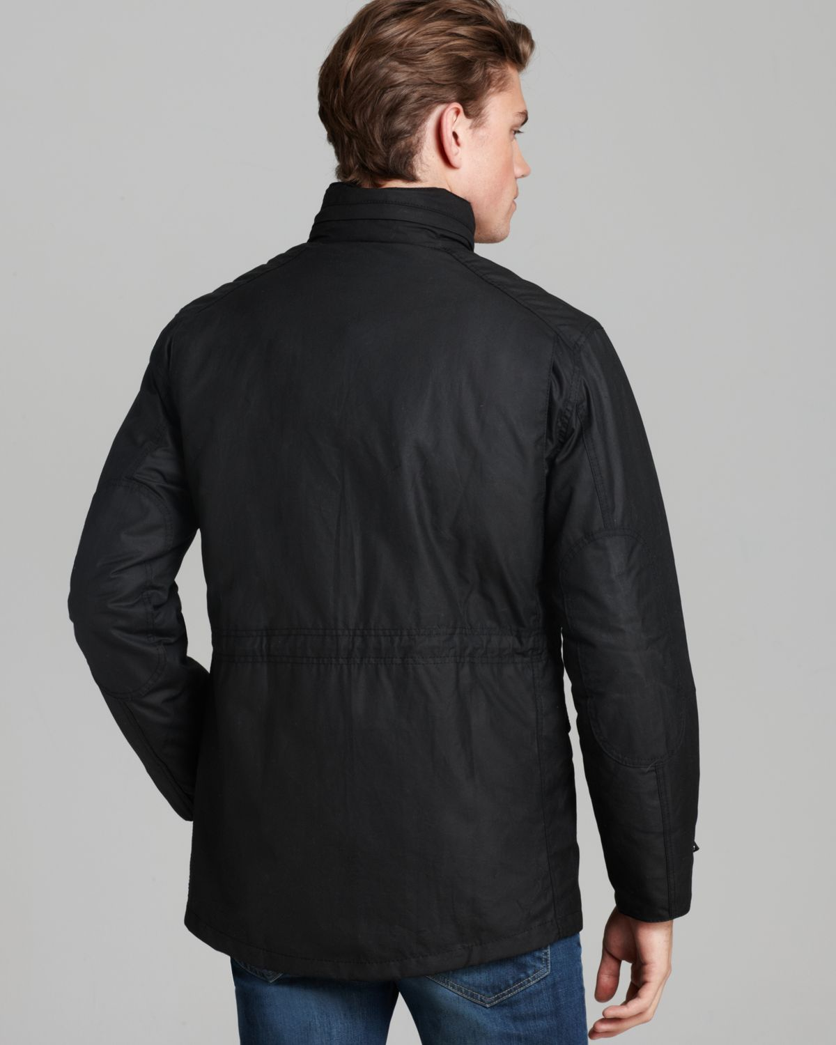 Barbour Sapper Waxed Cotton Jacket In Black For Men Lyst