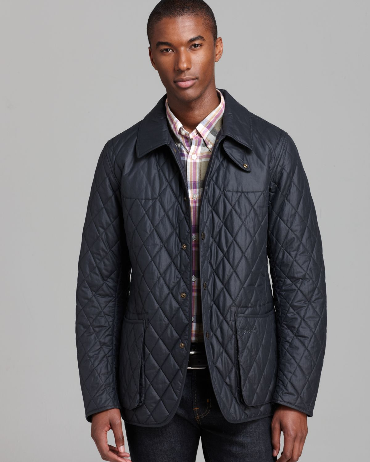 quilt heritage men s black jacket and quilted liddesdale jackets image barbour mens coats