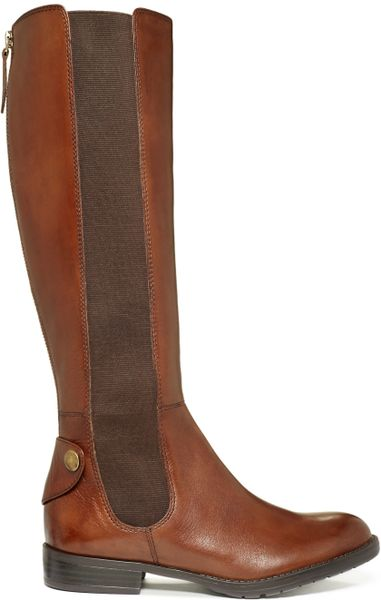 Franco Sarto Tahini Riding Boots In Brown Lyst