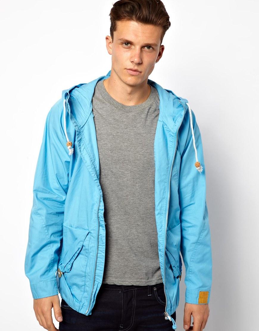 lyst asos g star marc newson jacket hooded parka in blue. Black Bedroom Furniture Sets. Home Design Ideas