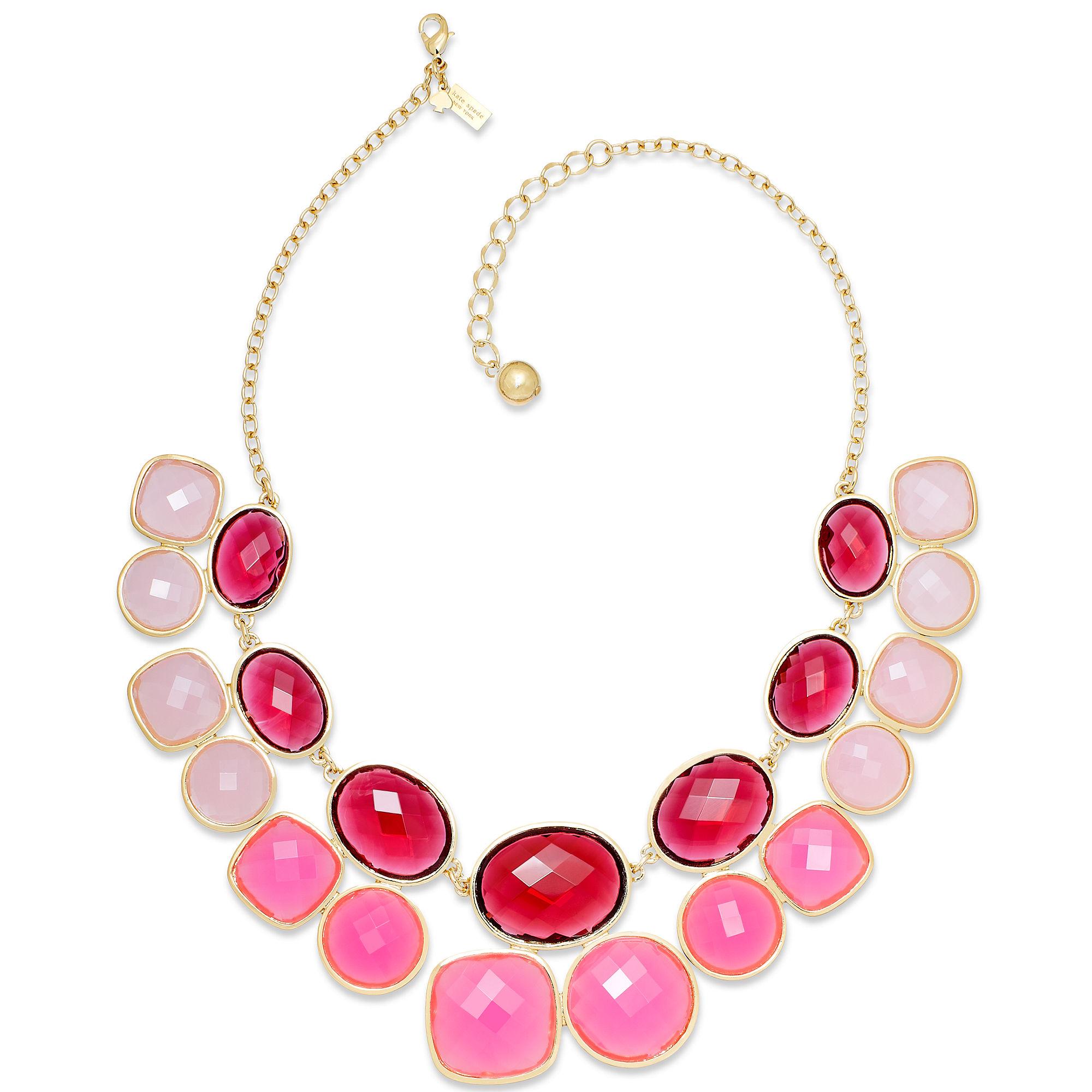 Kate Spade Kate Spade New York Necklace Goldtone Pink ...
