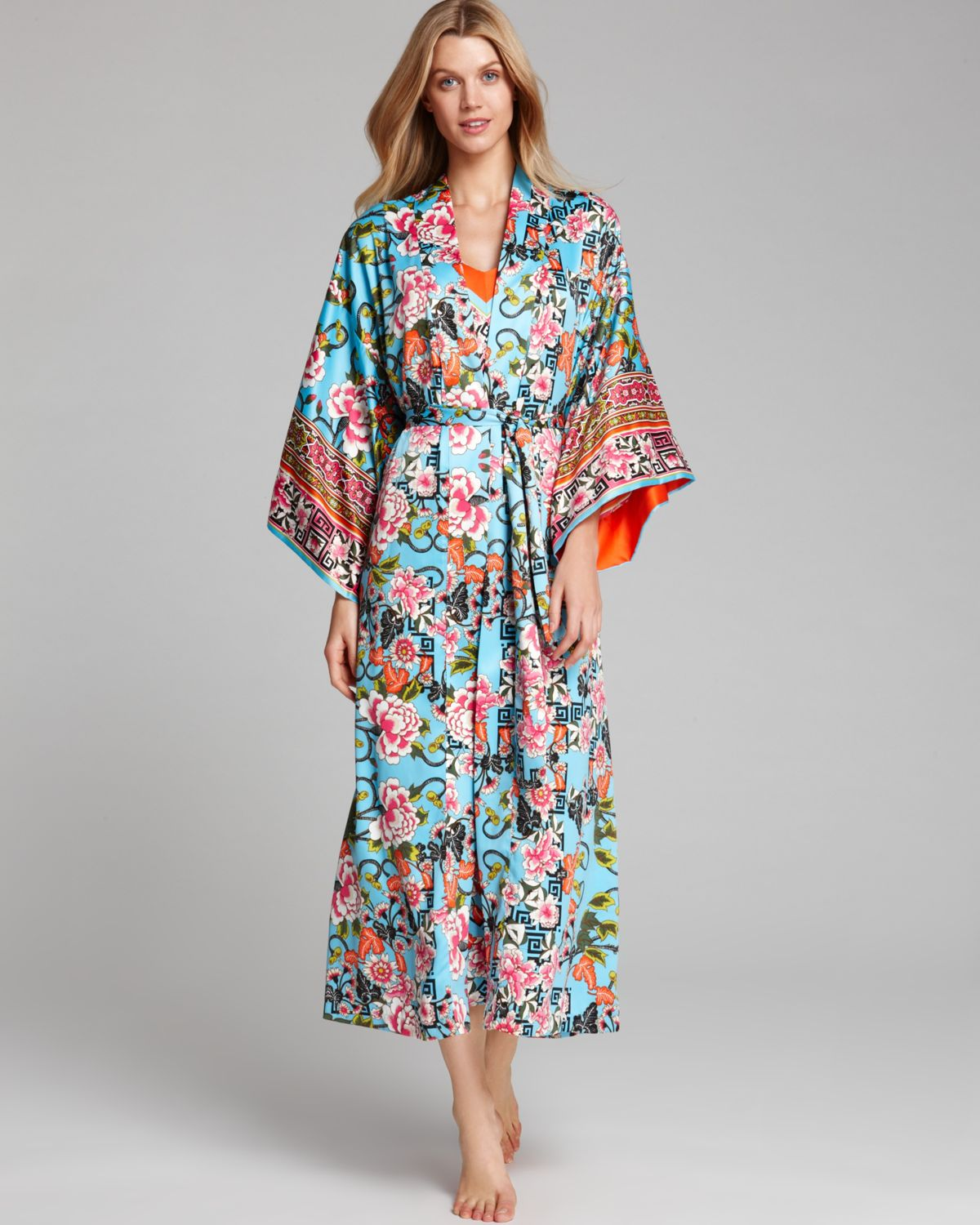 Natori Porcelain Long Robe - Lyst