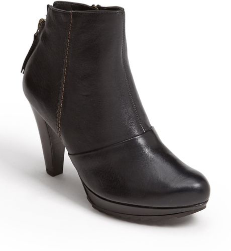 Paul Green Roxie Boot in Black (Black Leather)